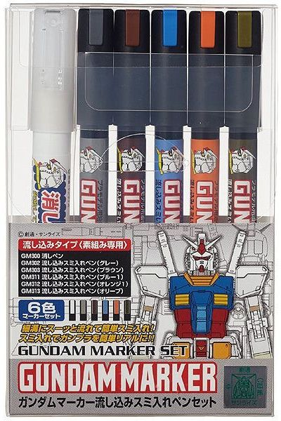 GUNDAM MARKER GMS-122 POURING INKING PEN SET